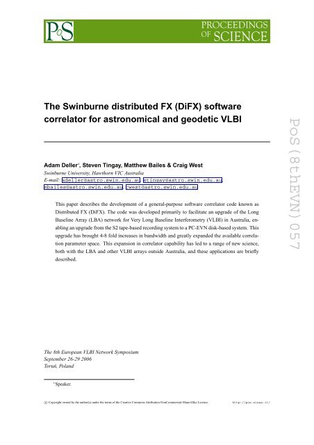 (DiFX) software correlator for astronomical and geodetic VLBI