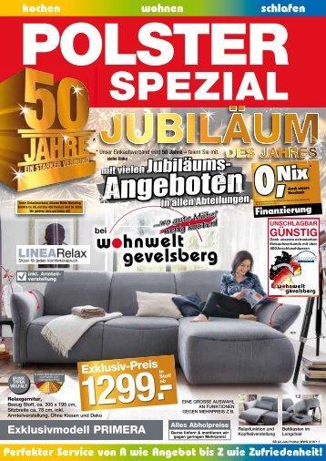 Polster Speizial - Jubiläumsangebote! 05-2016