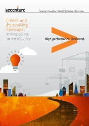 Fintech and the evolving landscape