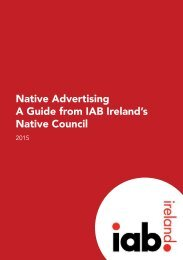 Native Advertising A Guide from IAB Ireland's Native Council