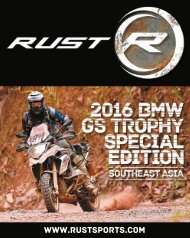 RUST magazine: BMW GS Trophy Special Edition 2016