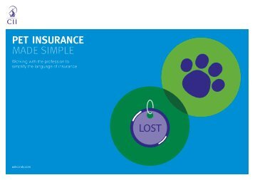 PET INSURANCE MADE SIMPLE