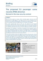 The proposed EU passenger name records (PNR) directive