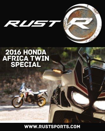 RUST magazine: 2016 Honda Africa Twin Special