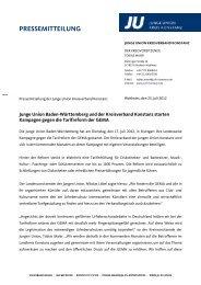 PRESSEMITTEILUNG - Junge Union Kreisverband Konstanz