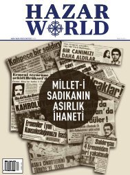 HAZAR WORLD - SAYI 41 - NİSAN 2016