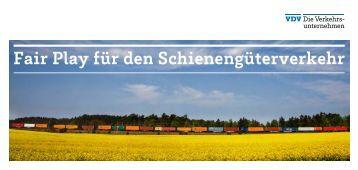 VDV – Fair Play für den Schienengüterverkehr