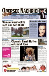 Obersee Nachrichten, Ausgabe vom 14.04.2016