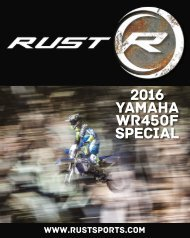 RUST magazine: 2016 Yamaha WR450 Special