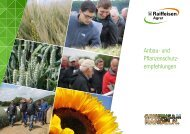 Raiffeisen Agrar Anbau- und Pflanzenschutzempfehlungen