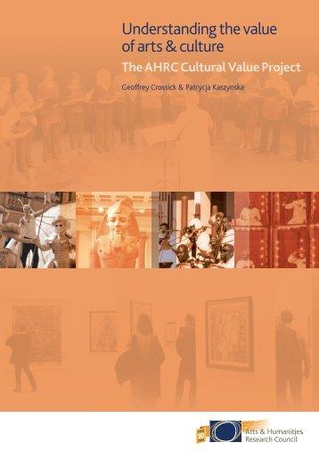 Understanding the value of arts & culture