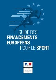 FINANCEMENTS EUROPÉENS POUR LE SPORT
