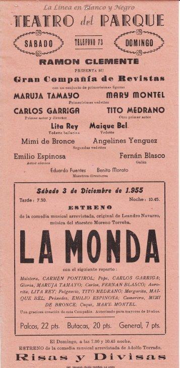 1955-12-03 Compañia Ramon Clemente - La Monda
