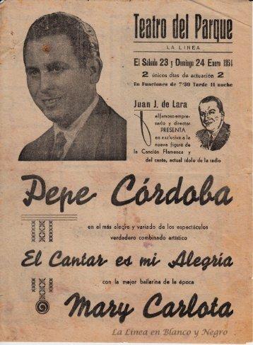 1954-01-23 Pepe Cordoba - El cantar es mi Alegría