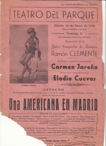 1954-01-30 Gran Compañia Ramon Clemente - Una Americana en Madrid