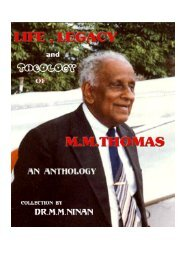 MM Thomas - Life, Legacy and Theology