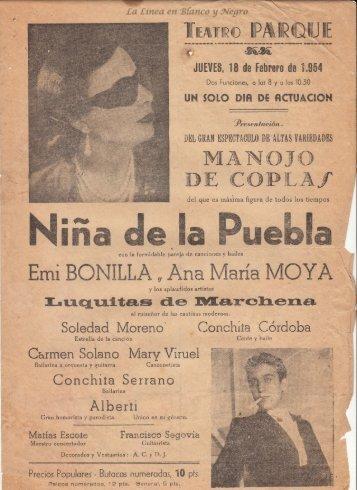 1954-02-18 Niña de la Puebla - Manojo de Coplas