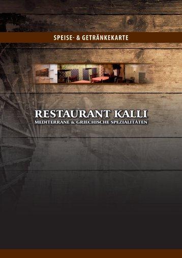 Speisekarte - Restaurant Kalli