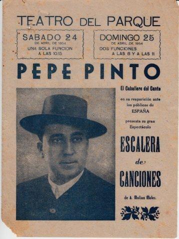 1954-04-24 Pepe Pinto - Escalera de Canciones