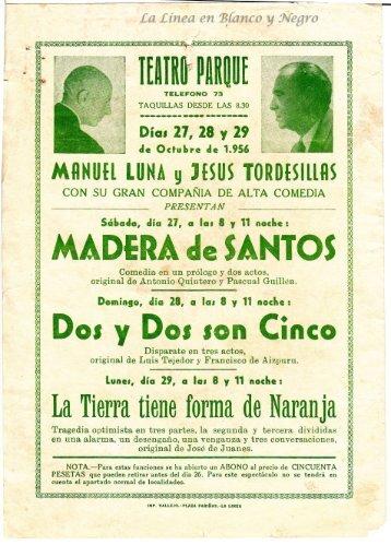 1954-10-27 Manuel Luna y Jesus Torrecillas - Madera de Santos