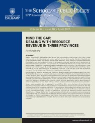 MIND THE GAP DEALING WITH RESOURCE REVENUE IN THREE PROVINCES