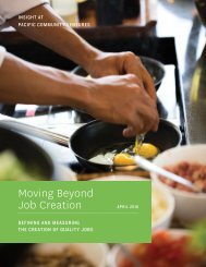 Moving Beyond Job Creation