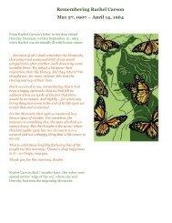 Remembering Rachel Carson