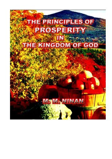 Principles of Prosperity in the Kingdom of God