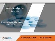 Analgesics Market - Forecasts 2015 - 2022