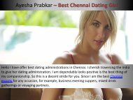 Enjoment with Top Level Dating Service in Chennai