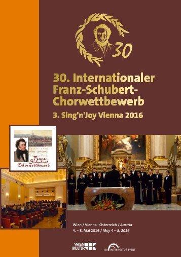 Sing'n' Joy Vienna 2016 - Program Book