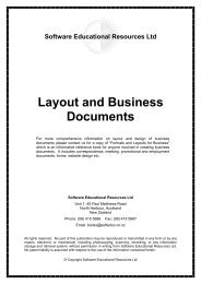 Software Educational Resources Ltd Layout and Business Documents
