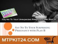 Say No To Your Surprising Pregnancy with Plan B