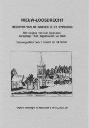 NIEUW-LOOSDRECHT, Register van Graven in de Sypekerk 1645-1650