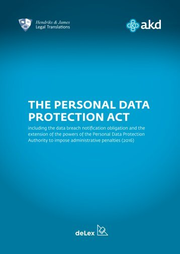 THE PERSONAL DATA PROTECTION ACT