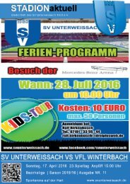 SV Unterweissach - VfL Winterbach