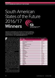 South American States of the Future 2016/17 Winners