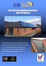 RIS Roof and Building Integrated Solar PV System