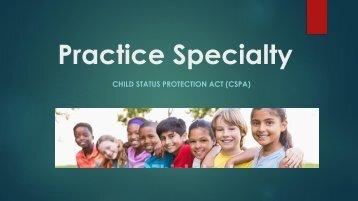 Practice Specialty