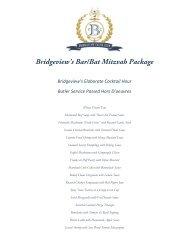 Bridgeview's Bar/Bat Mitzvah Package - Bridgeview Yacht Club