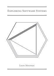 Exploring Software Systems - Centrum voor Wiskunde en ...