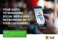 YOUR GUIDE TO MANAGING SOCIAL MEDIA AND NETWORKING WITH YOUR CUSTOMERS