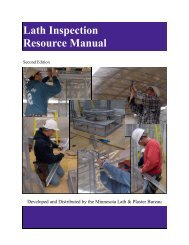 Lath Inspection Resource Manual - Minnesota Lath & Plaster Bureau