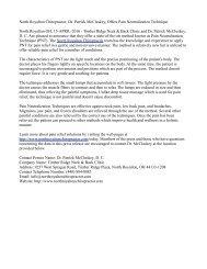 North Royalton Chiropractor, Dr. Patrick McCluskey, Offers Pain Neutralization Technique