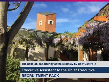 Executive Assistant to the Chief Executive RECRUITMENT PACK
