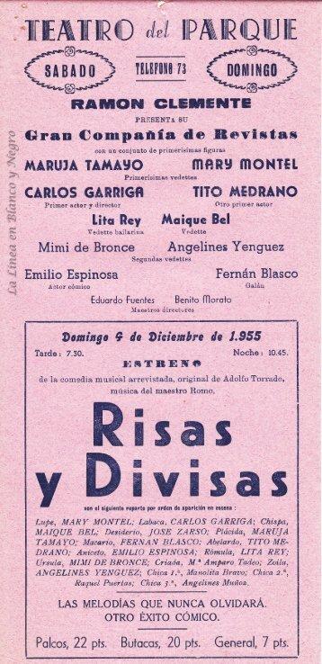 1955-12-04 Compañia Ramon Clemente - Risas y Divisas