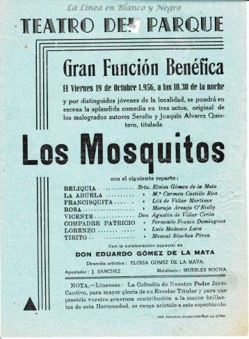 1956-10-19 Gran Funcion Benefica - Los Mosquitos