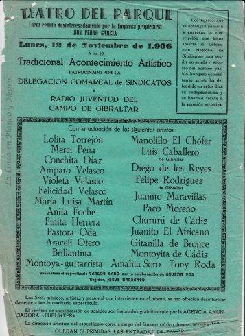 1956-11-12 Tradicional Acontecimiento Artistico - Artistists locales