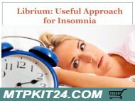 Librium - Useful Approach for Insomnia