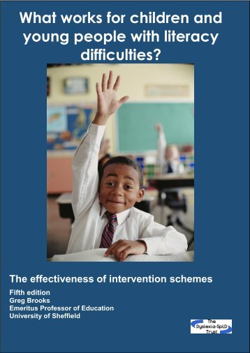 What works for children and young people with literacy difficulties?